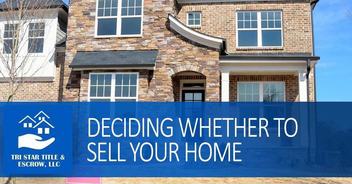 Deciding Whether to Sell Your Home - Insurance, Escrow, Settlement in Murfreesboro TN