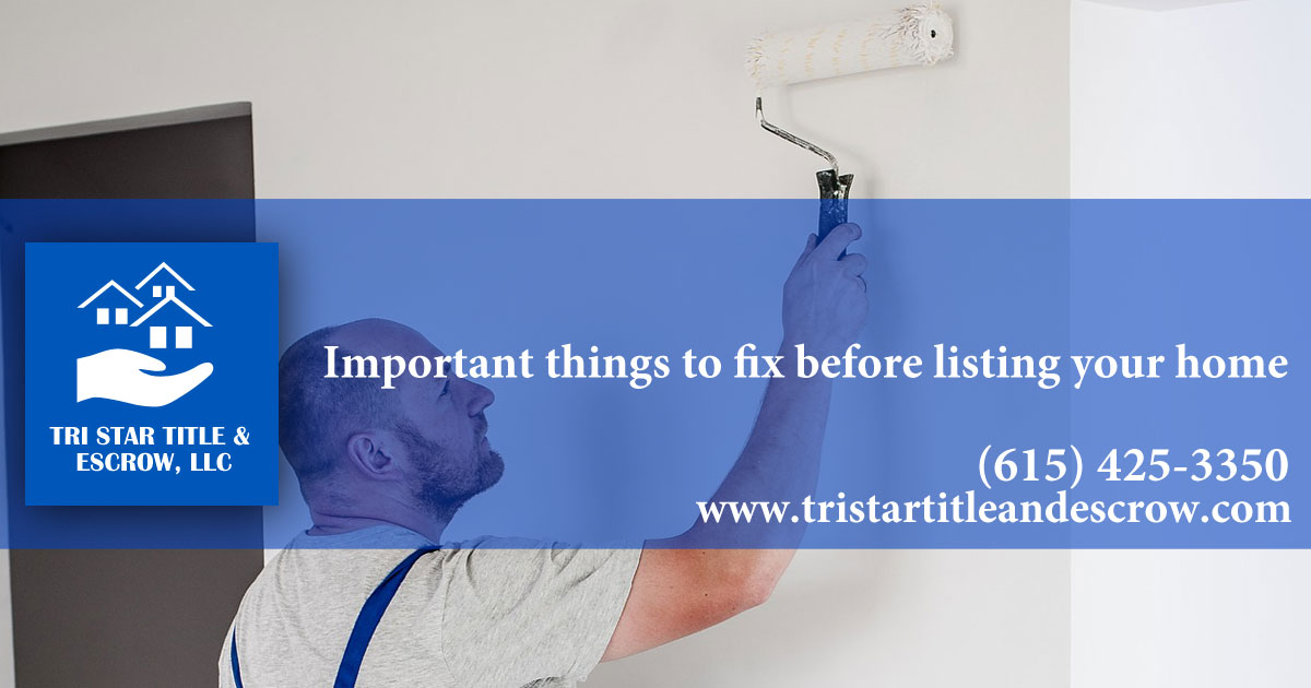 3 Important things to fix before listing your home - Insurance, Escrow, Settlement in Murfreesboro TN
