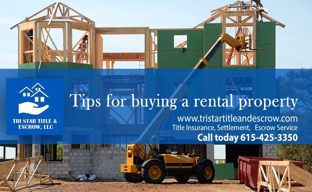 Tips for buying a rental property  - Insurance, Escrow, Settlement in Murfreesboro TN